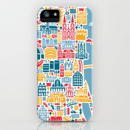 Cologne City Map Poster iPhone Case