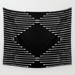 Geo / Black Wall Tapestry