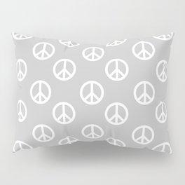 Peace (White & Gray Pattern) Pillow Sham