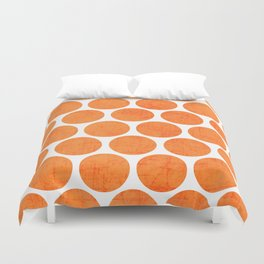 orange polka dots Duvet Cover