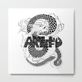 Chinese Dragon ArtofFD Metal Print