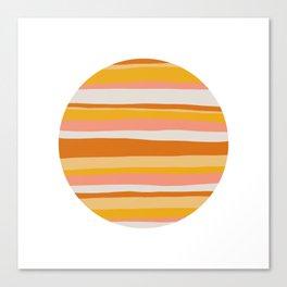 sedona, desert stripes Canvas Print