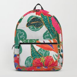 Tropical Hibiscus Bouquet Backpack