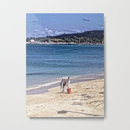 Fisherman and net, Frederiksted, St. Croix, USVI Metal Print