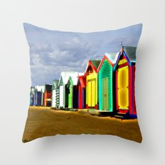 Brighton Beach Boxes Throw Pillow