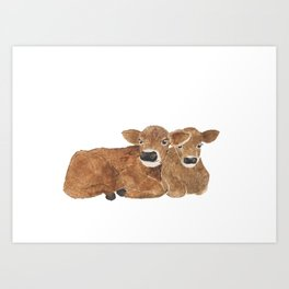 Baby Cows Art Print