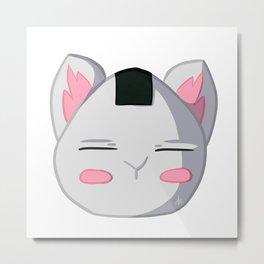 Onigiri cat pink Metal Print