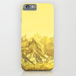 Mountains Yellow iPhone Case