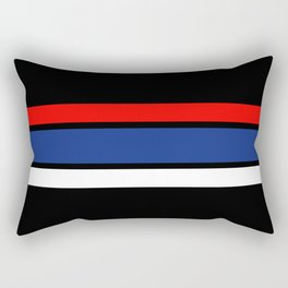 TEAM COLORS 2.....red,blue and white Rectangular Pillow