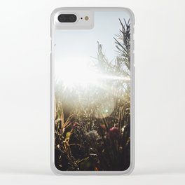 Running in the Fields Clear iPhone Case