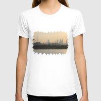 arab T-shirts featuring Dubai Skyline by Rebecca Bear