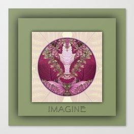 Imagine Manifestation Mandala No. 3 Canvas Print