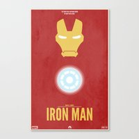 iron man Canvas Prints featuring Iron Man by Steal This Art