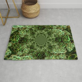 SEA FOAM FROTHY BLUE-GREEN SUCCULENTS Rug