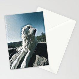 Maremma glamour shot Stationery Cards