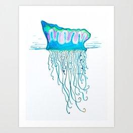 Sea Jellie Art Print