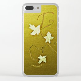 Leaves Of Grapes Clear iPhone Case