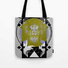 Think - Overlay - Repeat Tote Bag
