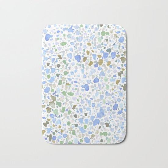 Magic Terrazzo Blue Bath Mat