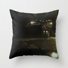 rain bokah Throw Pillow