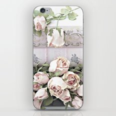 Shabby Chic Dreamy Pink Roses Cottage Floral Decor iPhone & iPod Skin