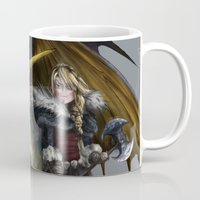 how to train your dragon Mugs featuring astrid & stormfly HOW TO TRAIN YOUR DRAGON 2 by Tonz