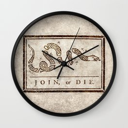 Join or die Wall Clock