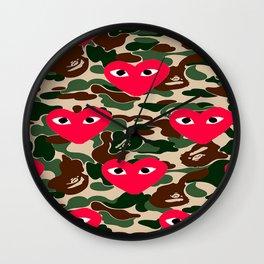 Bape Commes Des Camo Wall Clock