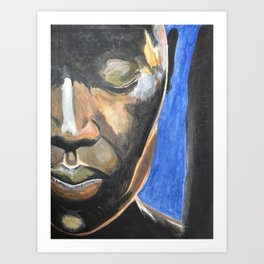 Face in Contemplation Art Print