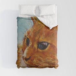 Orange Tabby Cat Comforters