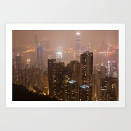 Hong Kong Night Art Print