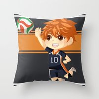 haikyuu Throw Pillows featuring Haikyuu!! by Nozubozu