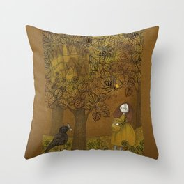 The Queen of Bees and the Princess who loved Honey Throw Pillow