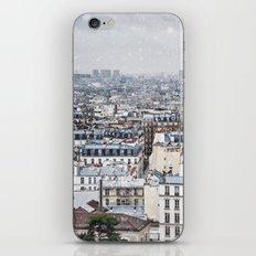 Snowy Paris iPhone Skin