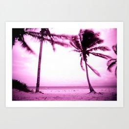Stormy Palm Art Print