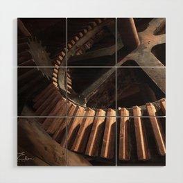 Grist Mill Gears Wood Wall Art