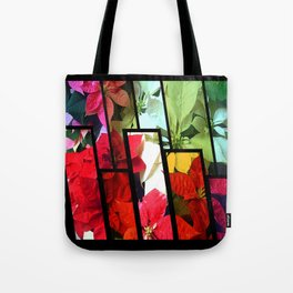 Mixed color Poinsettias 1 Tinted 1 Tote Bag