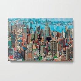Stressless - New York City Skyline - Empire State Building Photograph on Canvas by Serge Mendjisky Metal Print