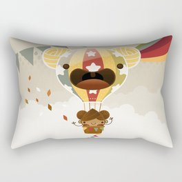 Chestnut Girl Balloon!!! Rectangular Pillow