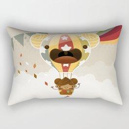Chestnut Girl Balloon!!! Rectangular Pillow