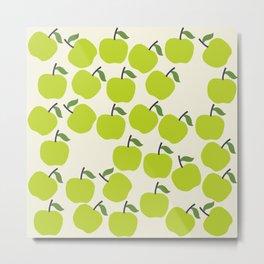 Green Apple Pattern Metal Print