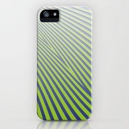 Green Diagonal Stripes iPhone Case