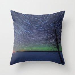 Cotton Lake Star Trails Throw Pillow