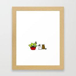 Snail. Framed Art Print