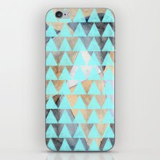Turquoise Triangles  iPhone & iPod Skin