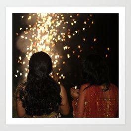 Diwali lights Art Print