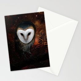 Barn owl at night Stationery Cards
