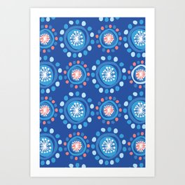 Bubbly Pattern Art Print