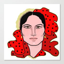 Spanish Flamenco Dancer Canvas Print