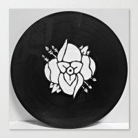 la dispute Canvas Prints featuring La Dispute On Vinyl by Sarah Hinds